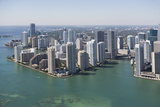 Usa, Florida, Miami Skyline as Seen from Air Photographic Print by  Fotog