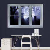 Graveyard Instant Window Wall Mural