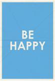 Be Happy Typography Photo