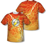 The Flash - Lightning Logo (Front/Back Print) T-Shirt