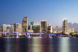 Downtown Miami Skyline at Dusk Photographic Print by Raimund Koch
