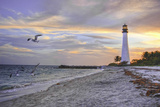 Good Night Cape Florida Lighthouse Fotografisk tryk af Photo taken by Crawford A. Wilson III