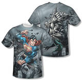 Superman - Superman Vs Doomsday (Front/Back Print) T-shirts