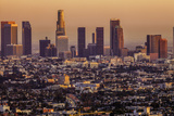 Downtown Los Angeles Pink Hues Photographic Print by Bob Stefko