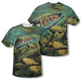 Wild Wings - Rainbow Trout (Front/Back Print) Tshirts