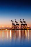 Industrial Cargo Dock Fotografie-Druck von Hal Bergman Photography