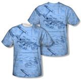 Star Trek - Blue Print (Front/Back Print) Shirts