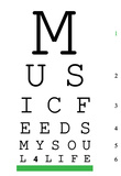 Music 4 Life Eye Chart 3 Affiches
