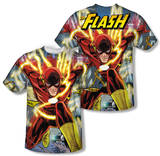 The Flash - Police Line (Front/Back Print) T-Shirt