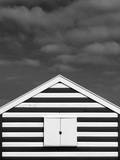 Stripes on Beach Hut Photographic Print by James Galpin