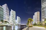 Downtown Miami, Riverwalk at Night Photographic Print by Raimund Koch