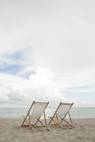 Two Empty Chairs on the Beach. Photographic Print by MoMo Productions