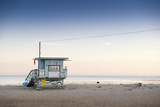 Lifeguard Hut on Sandy Beach Photographic Print by Markus Henttonen