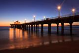 Manhattan Beach Pier Fotografisk tryk af  Jumper