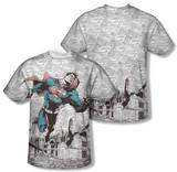 Superman - War Zone (Front/Back Print) T-shirts