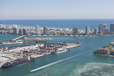 Usa, Florida, Miami, Cityscape with Coastline Photographic Print by  Fotog