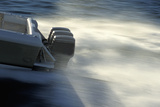 Engines on Speed Boat Photographic Print by Gary John Norman