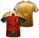Youth: Batman Classic TV - Robin Costume (Front/Back Print) Shirts