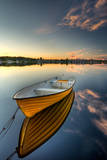 Orange Boat with Strong Reflection Photographic Print by David Olsson
