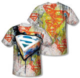 Superman - Urban Shields (Front/Back Print) T-Shirt