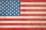 American Flag Grunge Background - Hi Res Photographic Print by Nic Taylor
