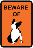 French Bulldog Beware 5 Prints
