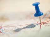Thumbtack on Map Photographic Print by Jamie Grill
