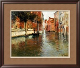 A Venetian Backwater Print by Fritz Thaulow