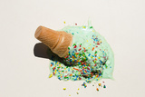Fallen Ice Cream Cone Photographic Print by PM Images