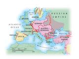Digital Illustration of Map of Europe during World War I Photographic Print by Dorling Kindersley