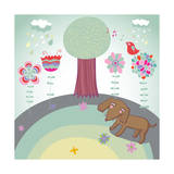 Spring Cartoon Landscape Poster by  smilewithjul