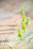 Thumbtacks on Map Photographic Print by Jamie Grill