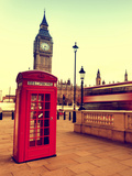 Red Telephone Booth Photographic Print by Martin Dimitrov