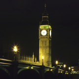 Westminster Bridge and Big Ben at Night, London Photographic Print by Hisham Ibrahim