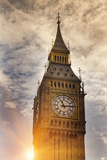 Big Ben Clock Tower in Cloudy Sky Photographic Print by Walter Zerla