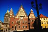 Town Hall Facade, Wroclaw, Dolnoslaskie, Poland, Europe Fotodruck von Witold Skrypczak
