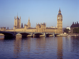 Houses of Parliament and Big Ben on the River Thames, London, England, UK Photographic Print by Henry Steadman