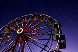 Carnival Ferris Wheel against Starry Night Sky Photographic Print by Heather Cate Photography