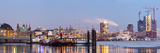 Hamburg Harbour on Ice, Elbe River, 57Mpx Fotoprint av Fabian Wentzel
