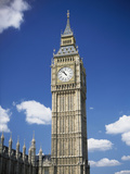 Low Angle View of a Clock Tower, Big Ben, London, England Photographic Print by  Purestock