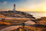 Peggy's Cove Lighthouse Photographic Print by Nancy Rose
