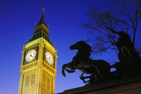 Big Ben and Statue of Queen Boadicea Photographic Print by Brian Lawrence