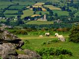 Widecombe in the Moor, Dartmoor, National Park, Devon, England, Uk. Widecombe in the Moor is Situat Photographic Print by Philip Fenton Lrps
