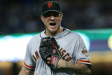 Sep 22, 2014, San Francisco Giants vs Los Angeles Dodgers - Jake Peavy Photographic Print by Stephen Dunn