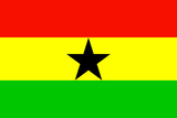 Ghana National Flag Art
