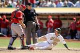 Sep 24, 2014, Los Angeles Angels of Anaheim vs Oakland Athletics - Josh Donaldson Photographic Print by Ezra Shaw
