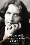 Oscar Wilde Be Yourself Quote Posters