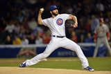 Sep 24, 2014, St. Louis Cardinals vs Chicago Cubs - Jake Arrieta Photographic Print by Brian Kersey