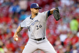 Sep 24, 2014, Milwaukee Brewers vs Cincinnati Reds - Kyle Lohse Photographic Print by Andy Lyons