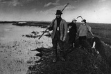 Reed Cutters Photographic Print by Peter Henry Emerson